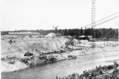 Hodenpyl Dam Construction on the Manistee River View 1