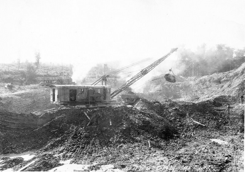 Hodenpyl Dam Construction on the Manistee River View 2