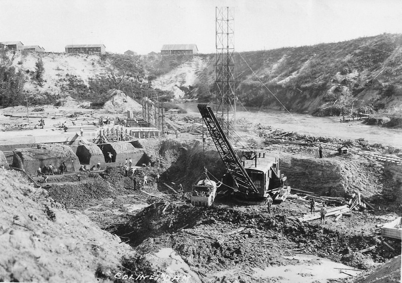 Hodenpyl Dam Construction on the Manistee River View 3