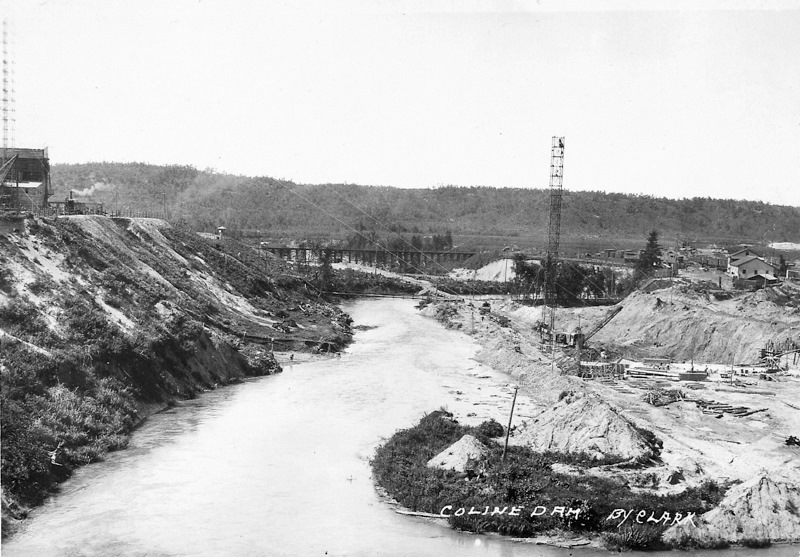 Hodenpyl Dam Construction on the Manistee River View 4
