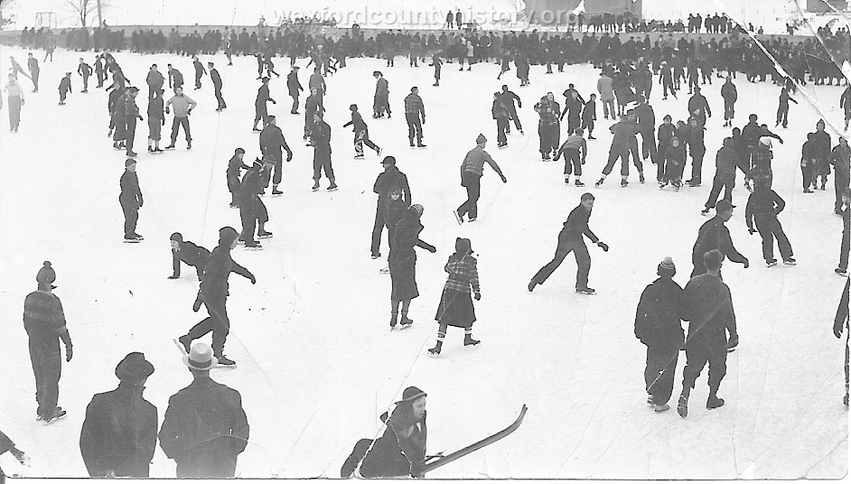 Skating On Lake Cadillac