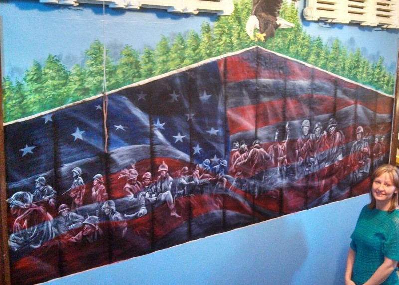 The Vietnam Wall Mural