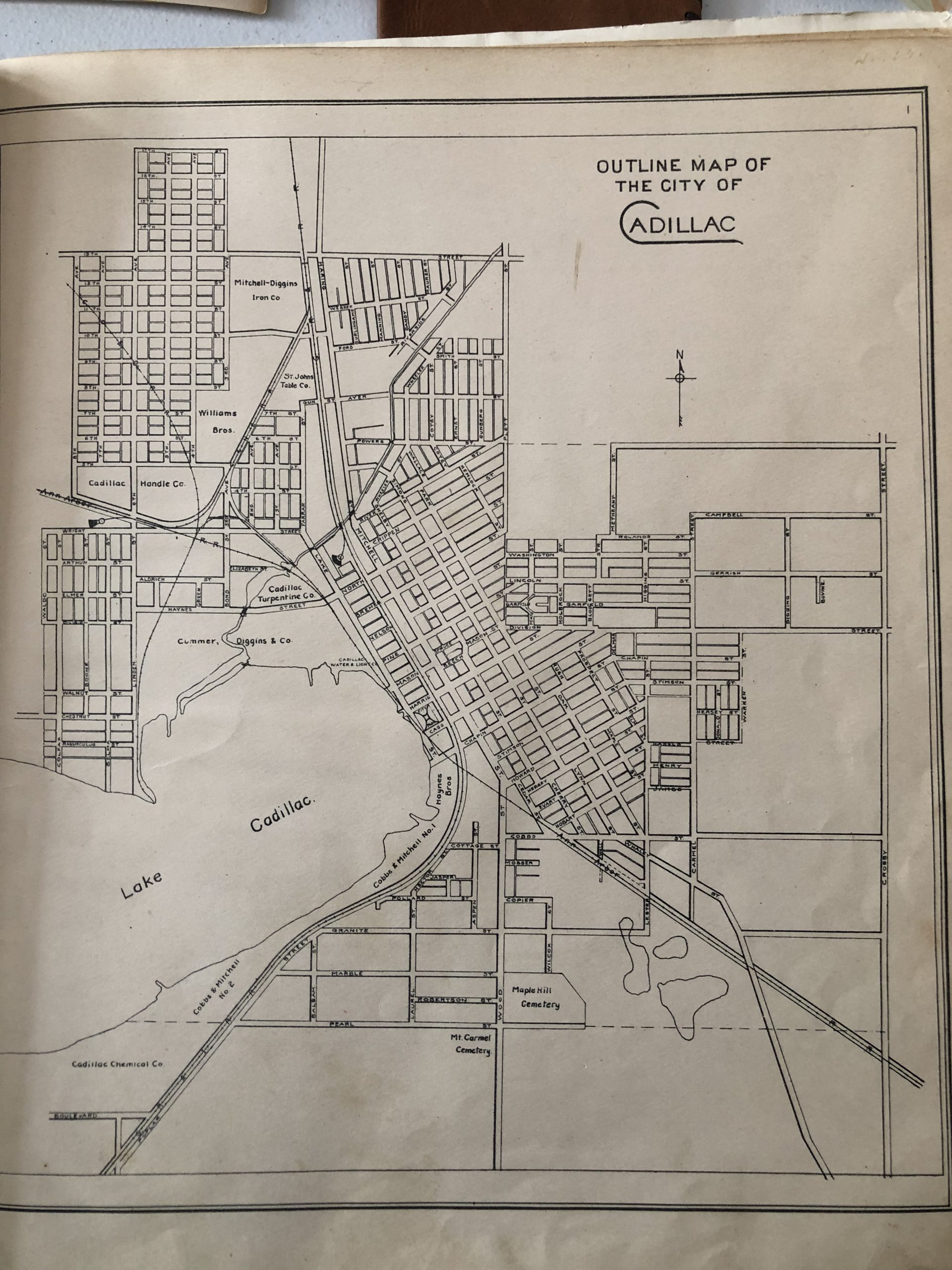 Maps – Maps – Unknown – Outline Map Of Cadillac